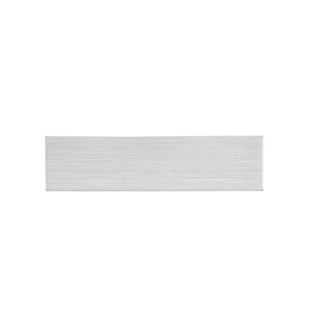 Jeffrey Court Weather Grey Linen 3 in. x 12 in. Glossy Glazed Ceramic Wall Tile (10.75 sq. ft. / case)