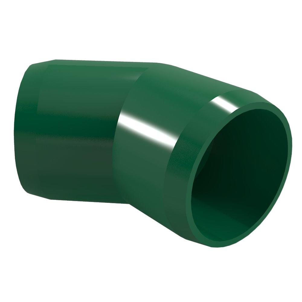 Formufit 1 in. Furniture Grade PVC 45-Degree Elbow in Green (4-Pack)