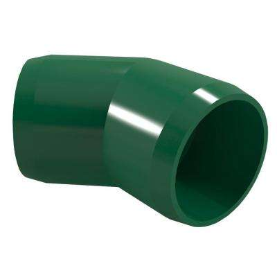 1/2 in. Furniture Grade PVC 45-Degree Elbow in Green (10-Pack)