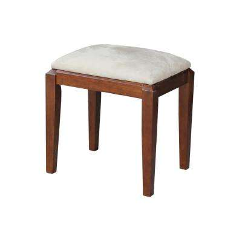 Espresso Upholstered Vanity Bench