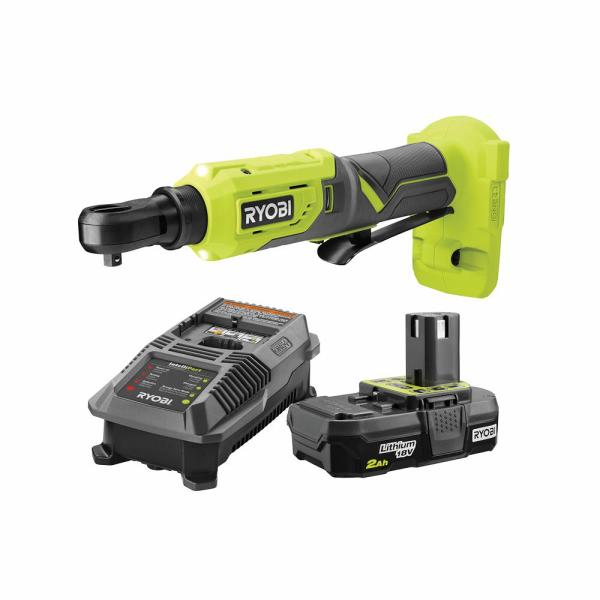 18-Volt ONE+ Cordless 1/4 in. 4-Position Ratchet and 2.0 Ah Battery and Charger Upgrade Kit