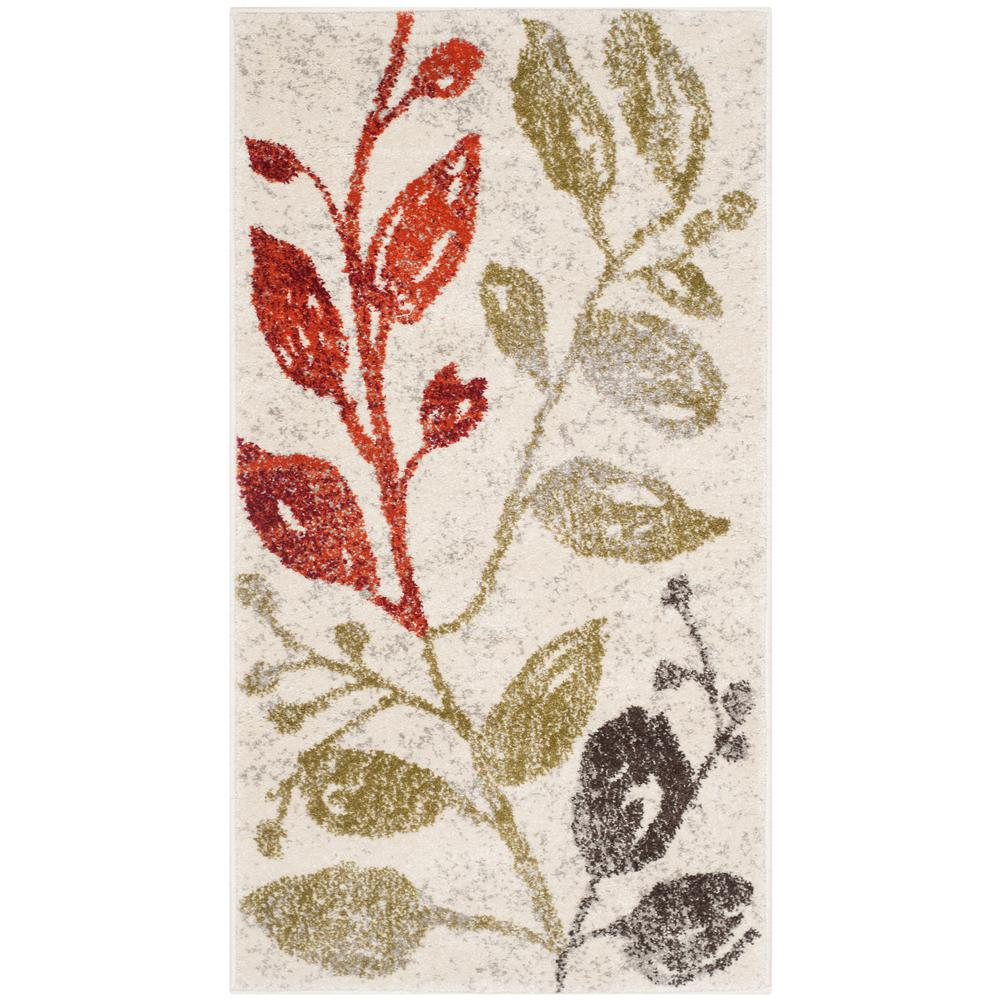 Porcello Ivory/Green 2 ft. 7 in. x 5 ft. Area Rug
