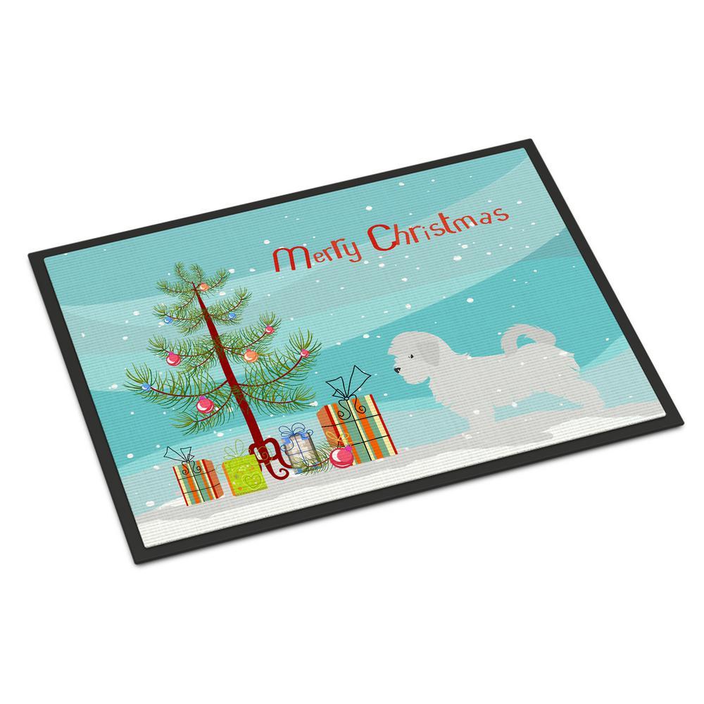 18 in. x 27 in. Indoor/Outdoor Maltese Merry Christmas Tree Door Mat