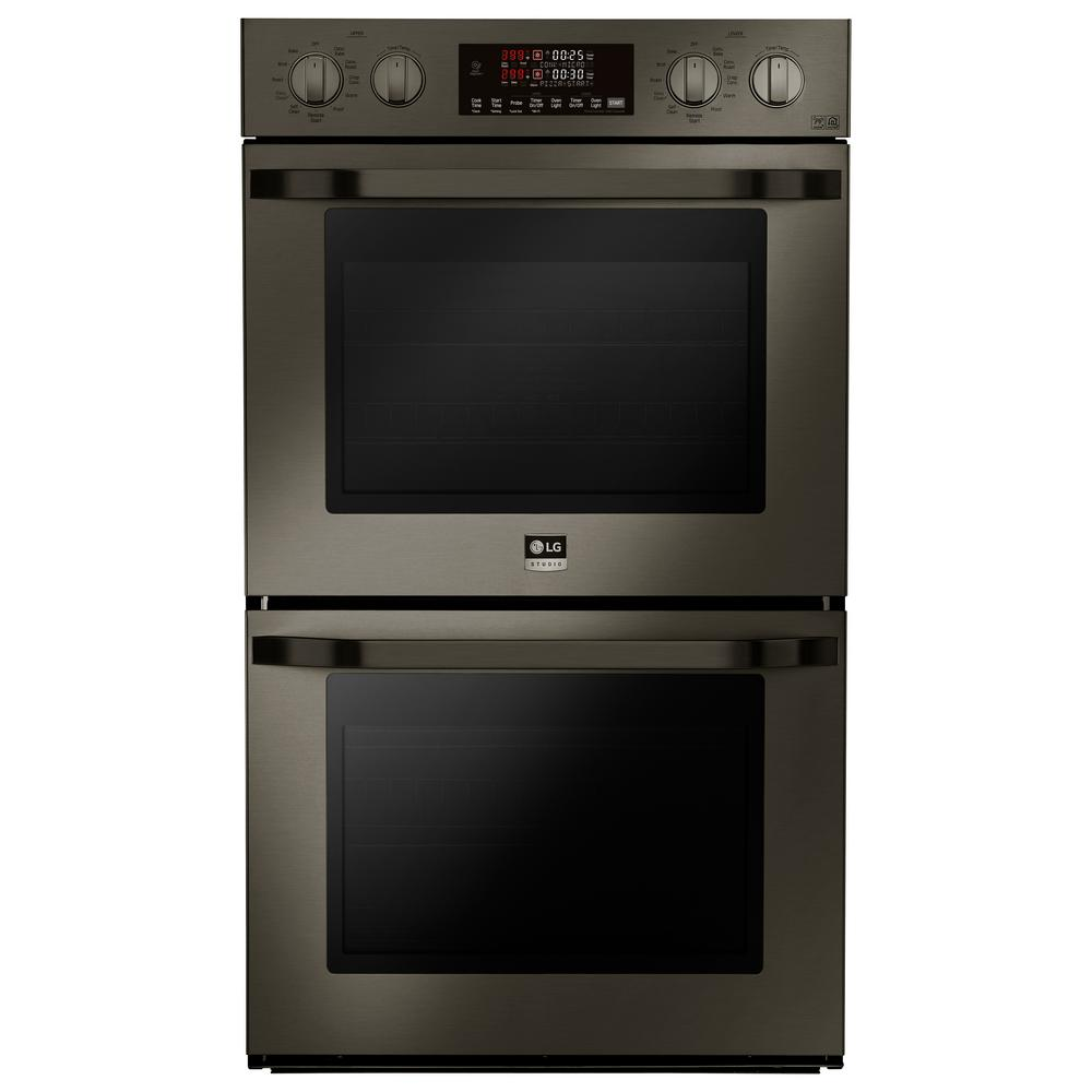 LG STUDIO 30 in. Double Electric Wall Oven with Self Cleaning in Black Stainless Steel LG STUDIO 30 in. Double Electric Wall Oven with Self Cleaning in Black Stainless Steel