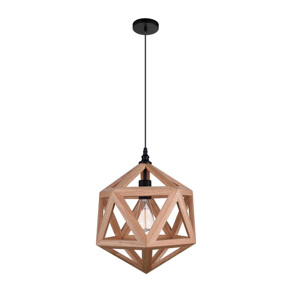 Lante 1-Light Natural Wood Pendant