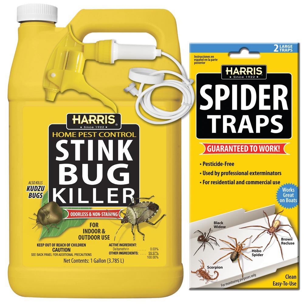 Harris 1 gal. Stink Bug Killer and Spider Trap Value Pack