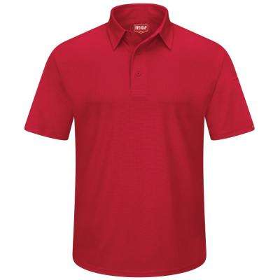 Men's Size 6XL Red Professional Polo