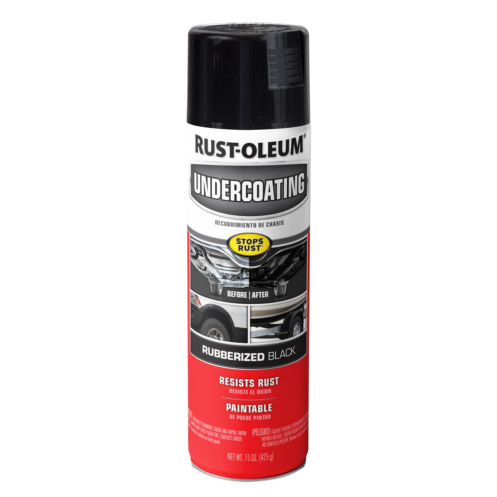 Rust-Oleum Automotive 15 oz. Matte Black Rubberized Undercoating Spray (6-Pack)
