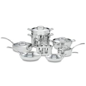 Click here to buy Cuisinart French Classic 13-Piece Stainless Steel Cookware Set with Lids by Cuisinart.