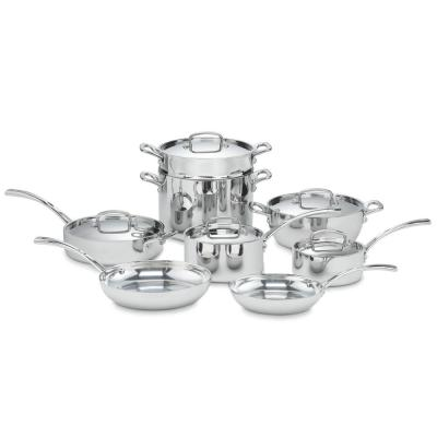 French Classic 13-Piece Stainless Steel Cookware Set with Lids