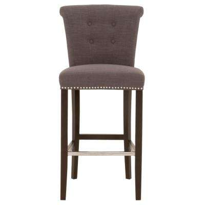 Luxe 30 in. Sepia Fabric, Espresso Bar Stool
