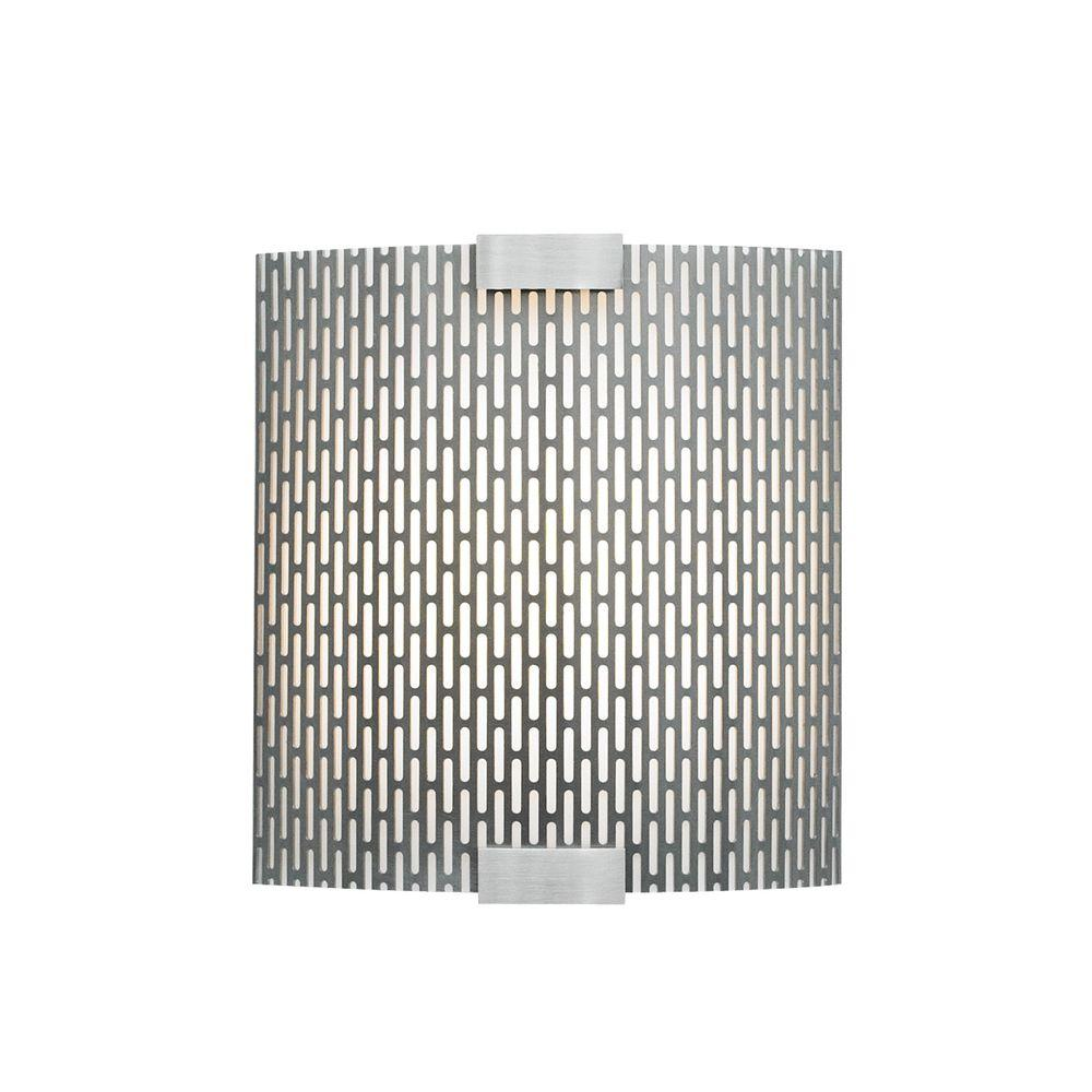 LBL Lighting Omni 1-Light Silver Outdoor Fluorescent Small Wall Light with Metal Shade
