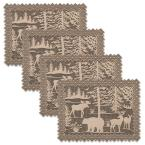 Lodge Hollow 14 in. x 20 in. Natural Lace Polyester Placemat (Set of 4)
