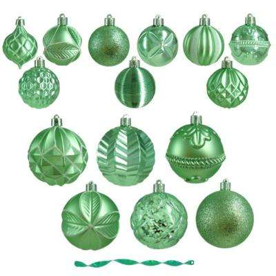 Winter Wishes Ornament Assortment in Mint (75-Count)