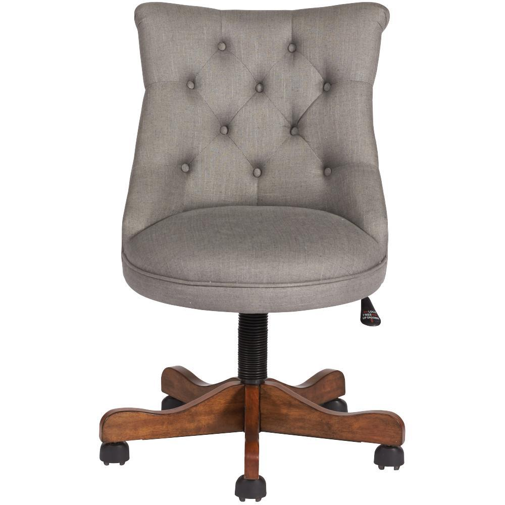 Home Decorators Collection Rebecca Grey Linen Office Chair - Grey office chair