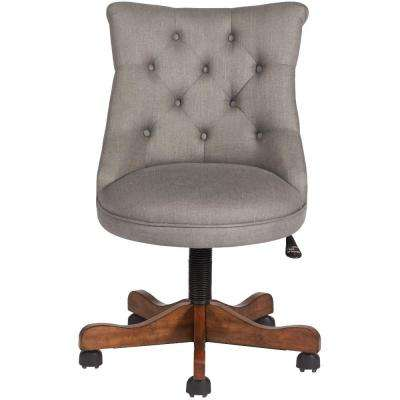 Rebecca Grey Linen Office Chair
