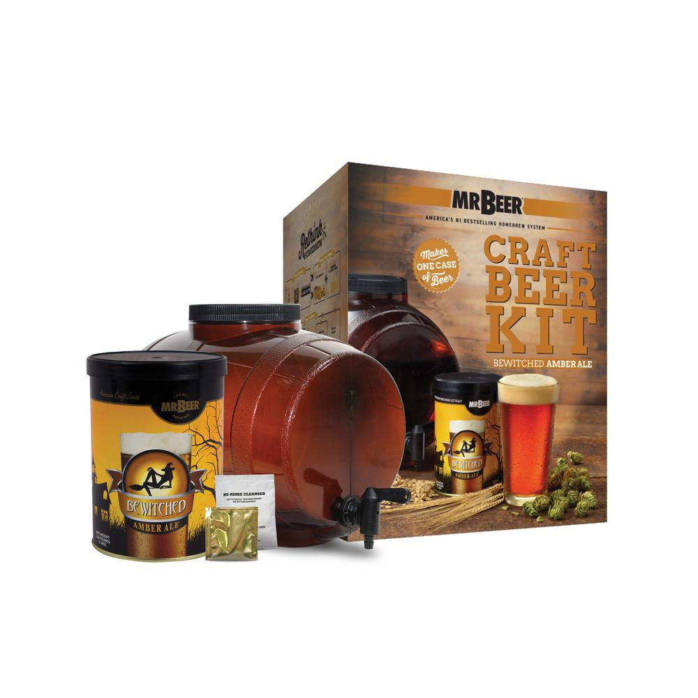 Mr beer bewitched amber ale beer brewing kit 40 20943 00 for Best craft beer kit