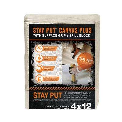 4 ft. x 12 ft. Surface Grip and Spill Block Canvas Runner