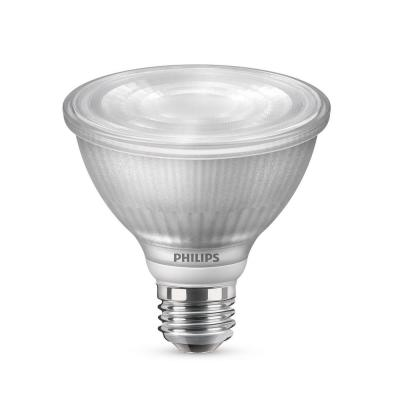 75-Watt Equivalent PAR30S Dimmable LED Flood Light Bulb with Warm Glow Dimming Effect Bright White (3000K)