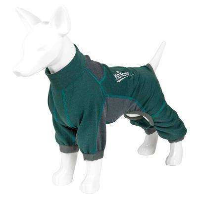 Small Green Rufflex Breathable Full Bodied Performance Dog Warmup Track Suit
