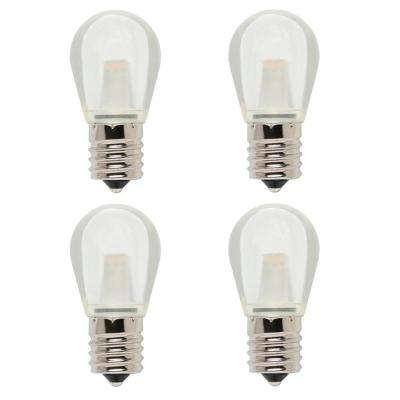10-Watt Equivalent S11 LED Light Bulb Soft White (4-Pack)