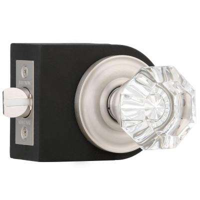 Filmore Satin Nickel Bed/Bath Crystal Knob