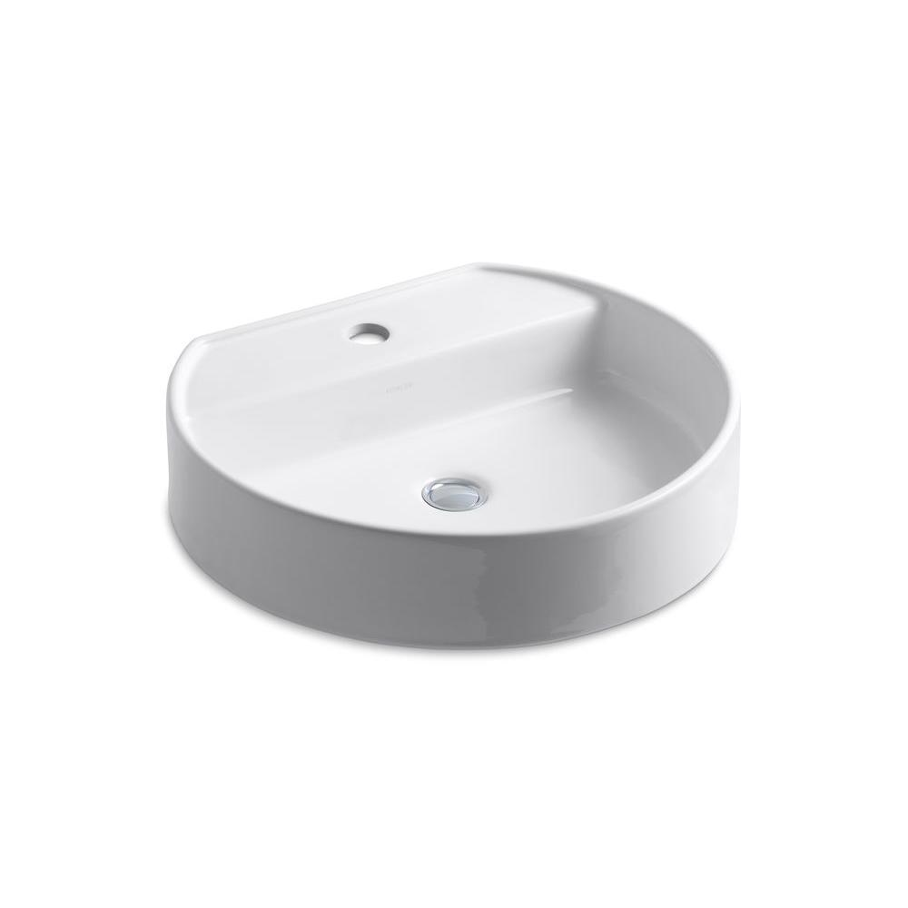 Chord Vitreous China Vessel Sink in White