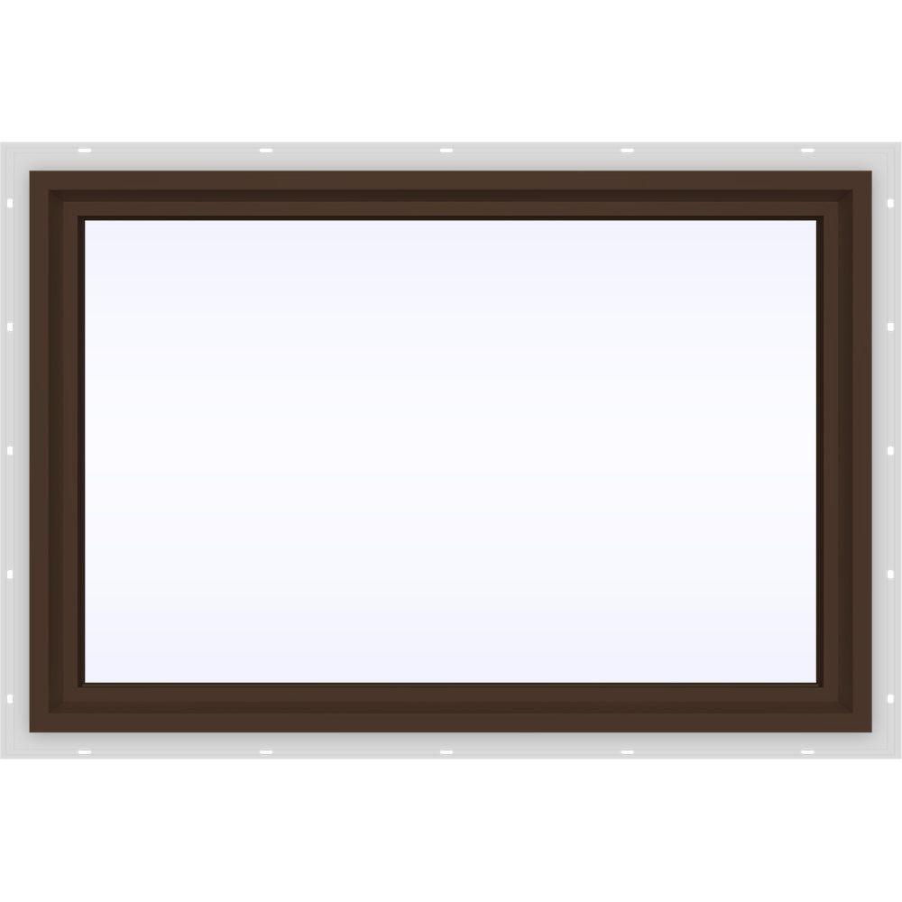JELD-WEN 35.5 in. x 23.5 in. V-4500 Series Fixed Picture Vinyl Window in Brown