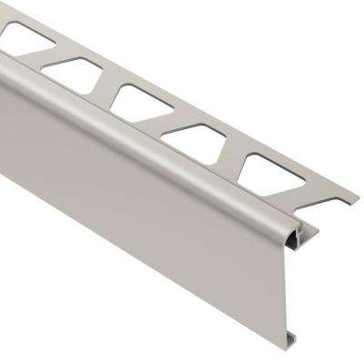 Rondec-Step Satin Nickel Anodized Aluminum 5/16 in. x 8 ft. 2-1/2 in. Metal Tile Edging Trim