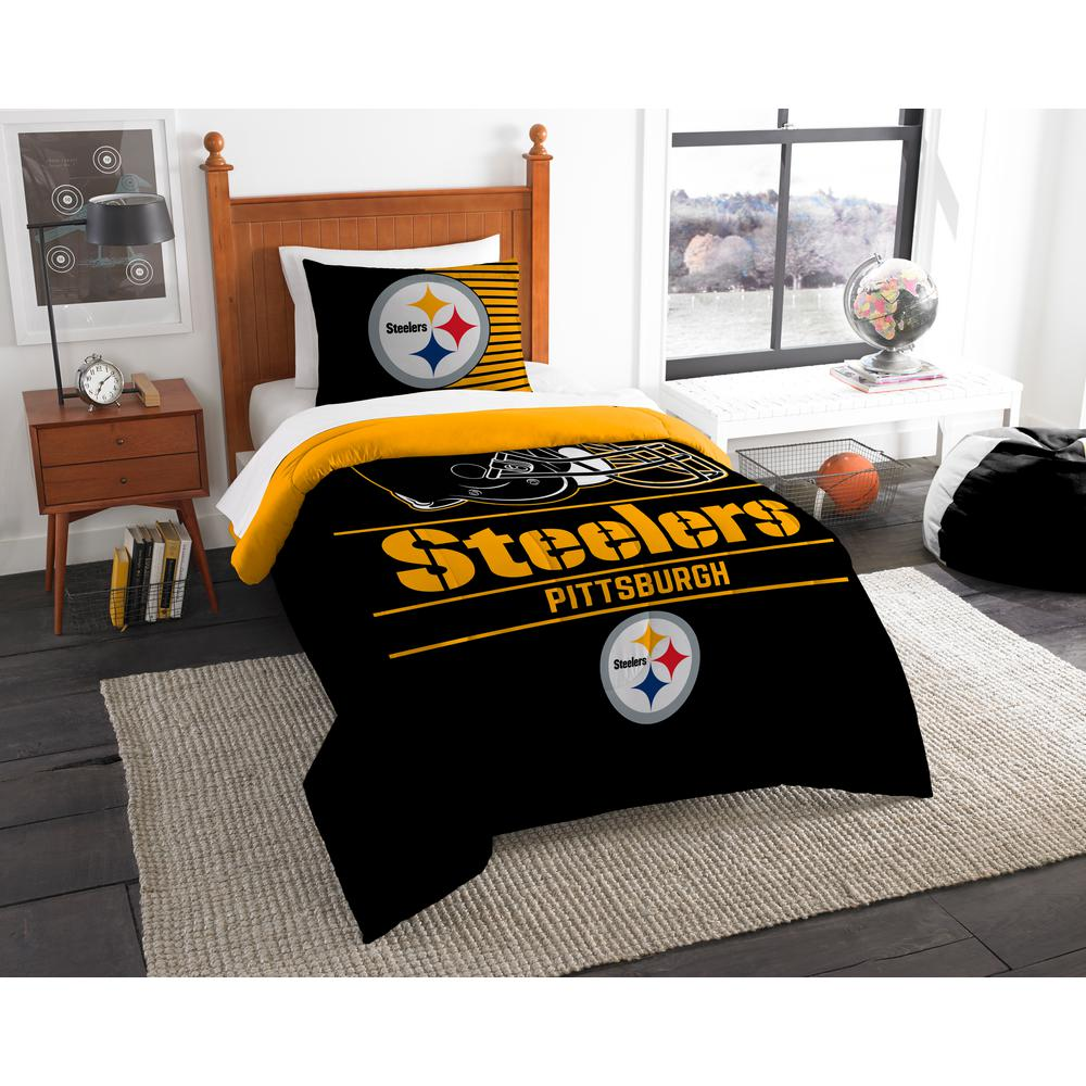 Steelers 2 Piece Draft Multi Twin Comforter Set