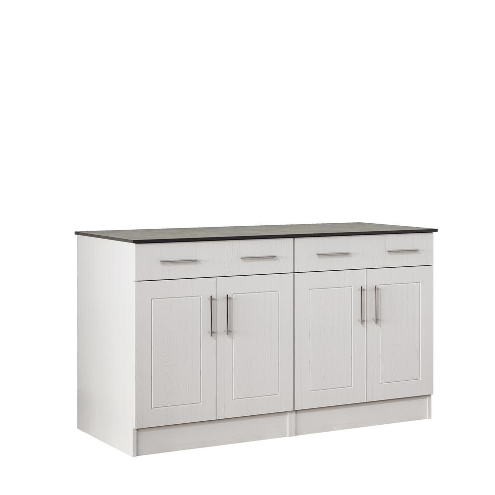 WeatherStrong Palm Beach 59.5 in. Outdoor Cabinets with Countertop ...