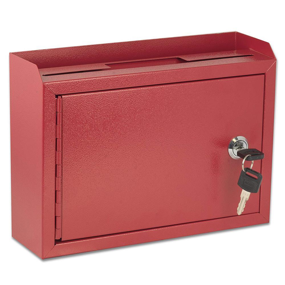 Medium Size Red Steel Multi-Purpose Suggestion Drop Box