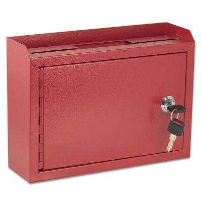 Medium Size Red Steel Multi-Purpose Suggestion Drop Box