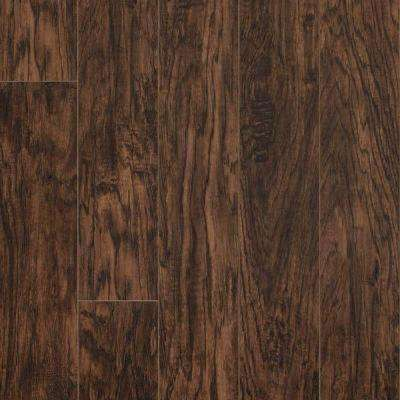 Pergo XP 10 mm Coffee Handscraped Hickory Laminate Flooring - 5 in. x 7 in. Take Home Sample