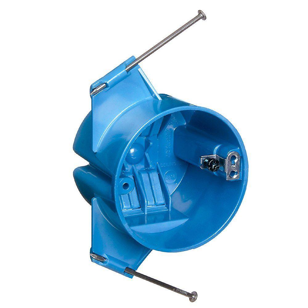 Carlon 18 cu. in. Round Ceiling Box, Blue