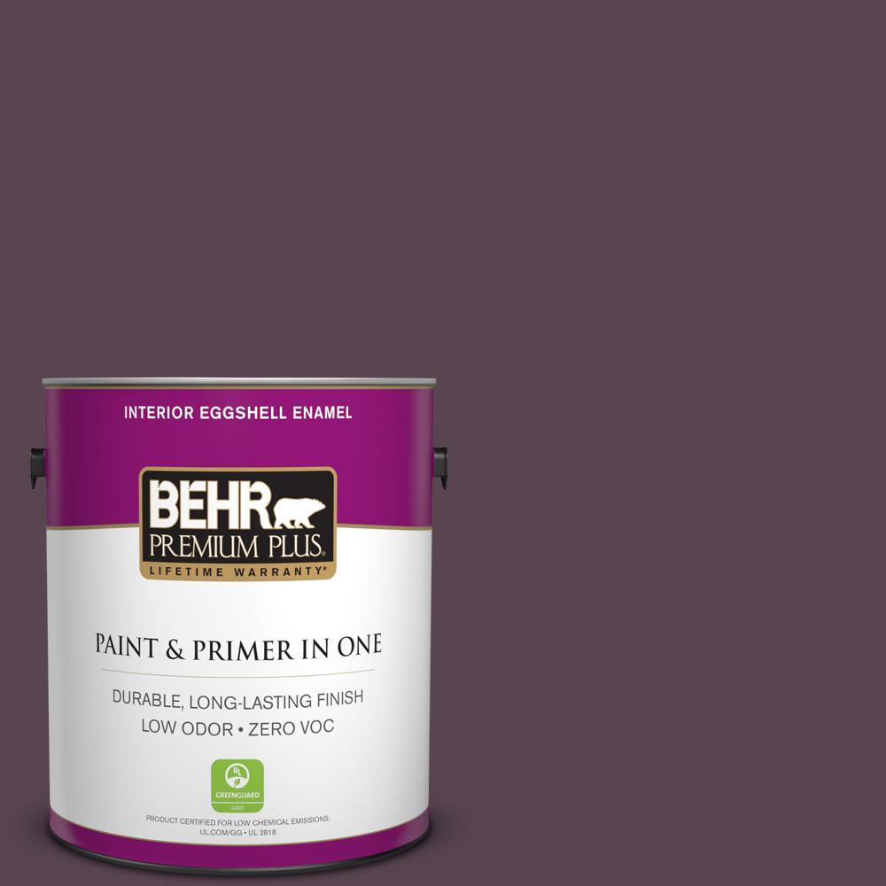 BEHR Premium Plus 1-gal. #100F-7 Deep Aubergine Zero VOC Eggshell Enamel Interior Paint