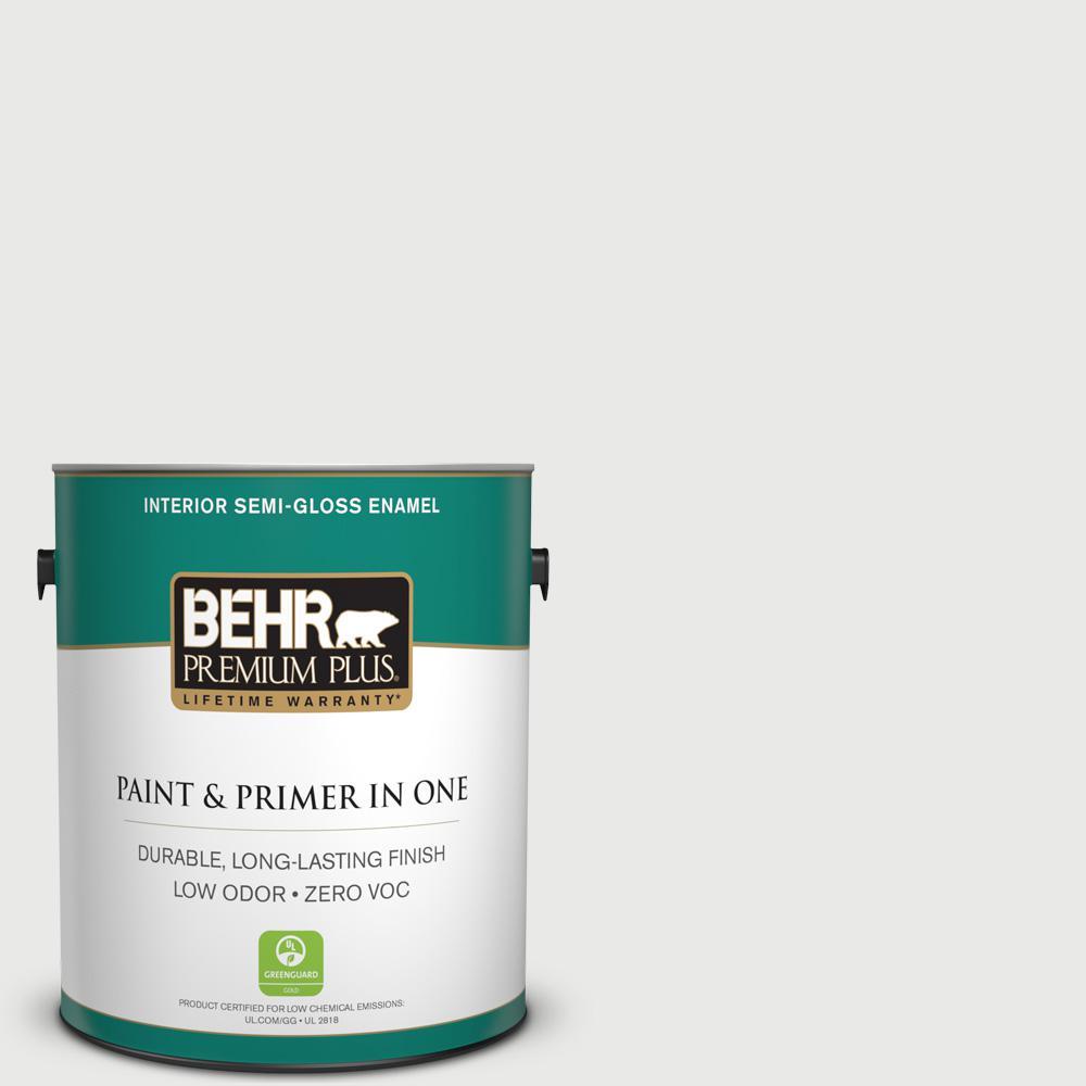 1 gal. #HDC-CT-22G Chalk Dust Zero VOC Semi-Gloss Enamel Interior Paint