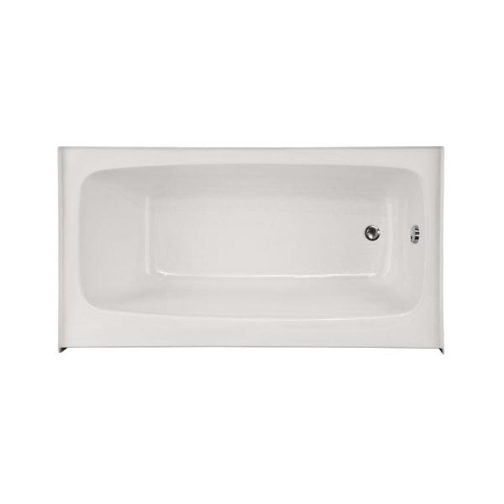 Trenton 54 in. Acrylic Right Hand Drain Rectangular Alcove Air Bath Bathtub in White