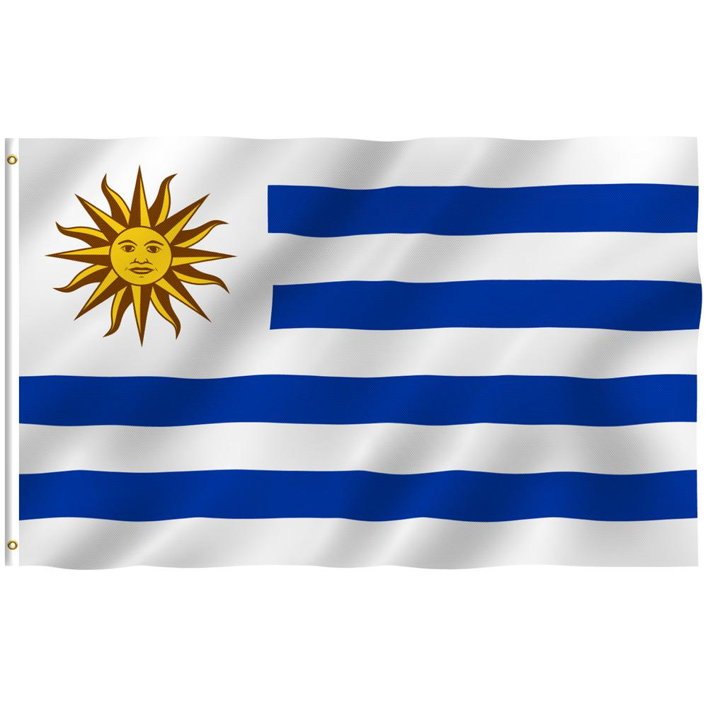 Anley Fly Breeze 3 Ft X 5 Ft Polyester Uruguay Flags 2