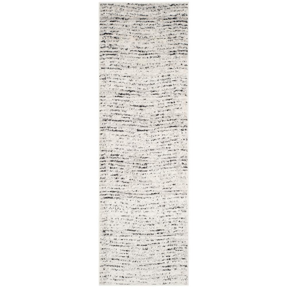 Adirondack Ivory/Silver 3 ft. x 22 ft. Runner