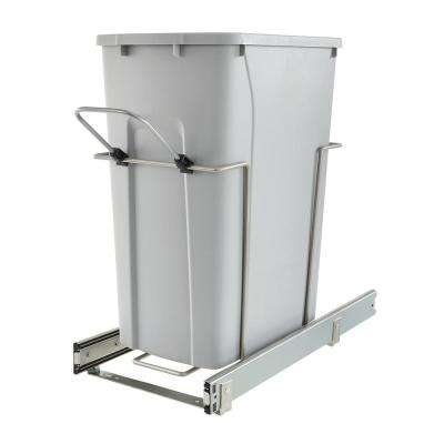 20.125 in. D x 18.8125 in. H x 9.625 in. W Steel In-Cabinet 29 Qt. Single Pull-Out Trash Can