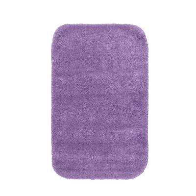 Traditional Purple 24 in. x 40 in. Washable Bathroom Accent Rug
