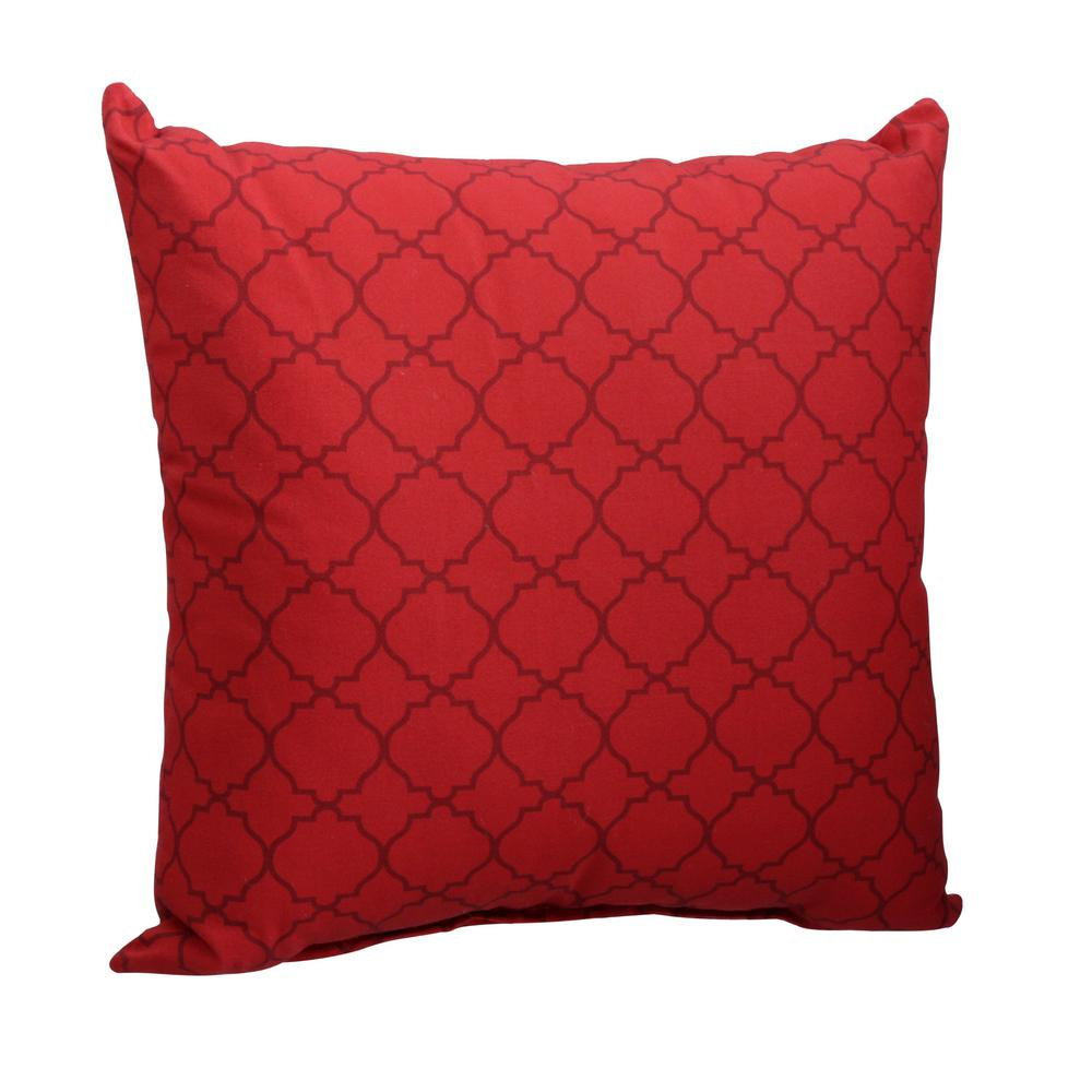 Chili Geo Square Outdoor Throw Pillow