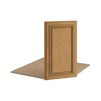 Clevedon Assembled 17x30x1 in. Front Angle Base Kitchen Sink Cabinet in Toffee Glaze