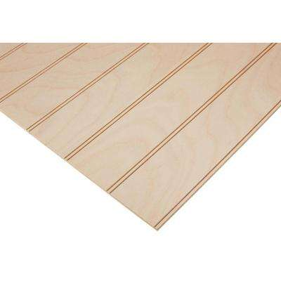 "1/4 in. x 2 ft. x 8 ft. PureBond Maple 3"" Beaded Plywood Project Panel (Free Custom Cut Available)"