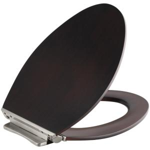 Kohler Avantis Elongated Closed Front Toilet Seat in Dark Antique Walnut by KOHLER