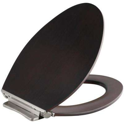 Avantis Elongated Closed Front Toilet Seat in Dark Antique Walnut