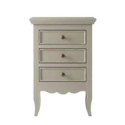 Roma Kids 3-Drawer Nightstand in Grigio Carmine