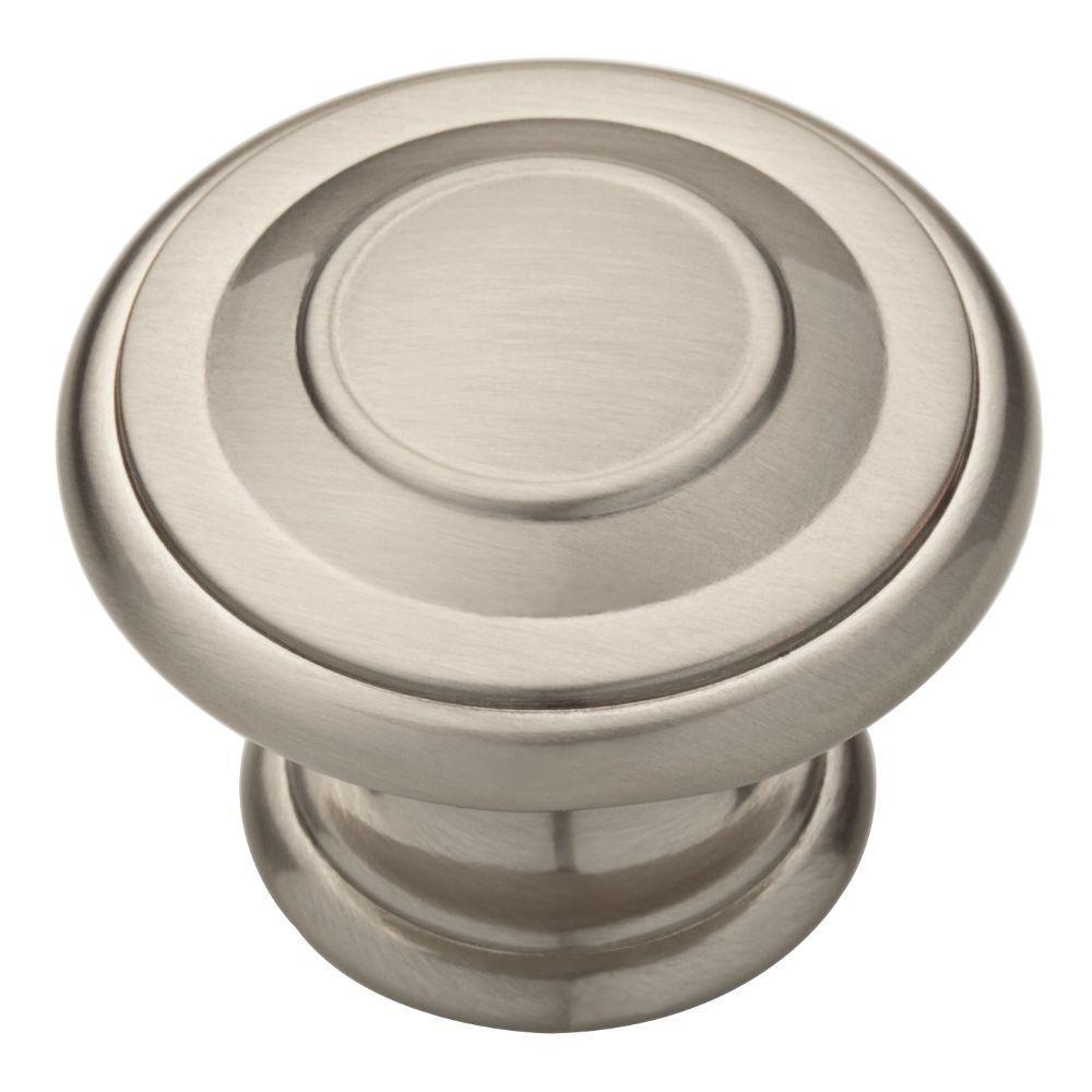 Harmon 1-3/8 in. (35mm) Satin Nickel Round Cabinet Knob (10-Pack)