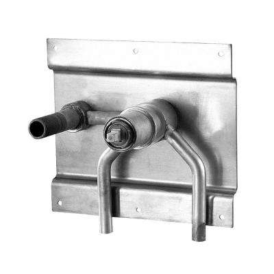 Single Handle Wall Mount Rough-In Valve with Mounting Plate in Rough Brass